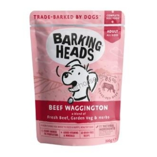 Kapsička BARKING HEADS Beef Waggington 300g