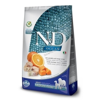 N&D OCEAN DOG Adult Mini Codfish&Pumpkin&Orange 2,5kg